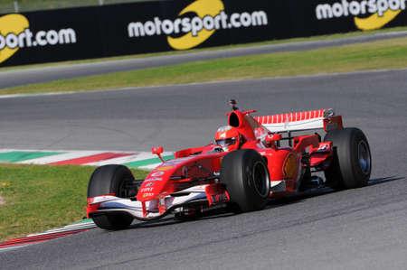 MUGELLO, IT, November, 2015: unknown run with Ferrari F1 in the mugello circuit in italy Editorial