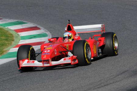 vettel: MUGELLO, IT, November, 2015: unknown run with Ferrari F1 in the mugello circuit in italy Editorial