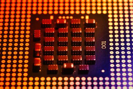 Close up of computer CPU