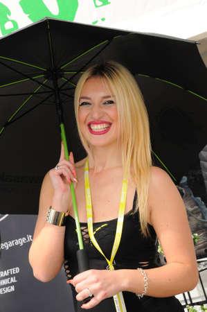 imola: 30 April 2016: Paddock Girl at SBK Championship Imola Circuit. Italy. Editorial