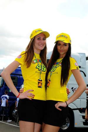 31 mei 2014: Paddock Girls bij MotoGP Championship Mugello Circuit. Italië.