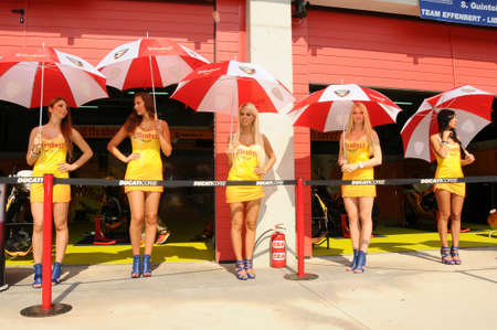 24 September 2011: Paddock Girls at SBK Championship Banco de Imagens - 83453024
