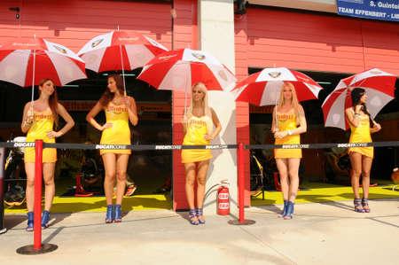 24 September 2011: Paddock Girls at SBK Championship Editorial