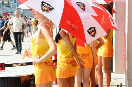 24 september 2011: Paddock Girls bij SBK Championship