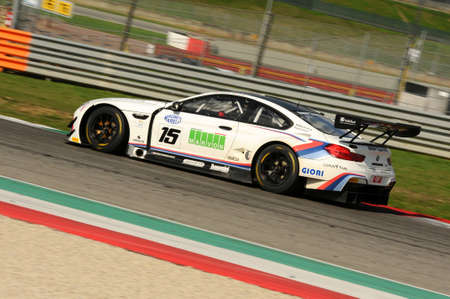 Mugello Circuit, Italy - 6 October, 2017: BMW M6 GT3 of BMW Italia Team, driven by A. Cerqui and S. Comandini during the final round of C.I. Gran Turismo Super GT3-GT3 in Mugello Circuit.