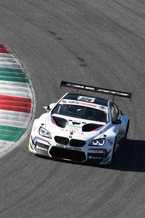 Mugello Circuit, Italy - 7 October, 2017: BMW M6 GT3 of BMW Italia Team, driven by A. Cerqui and S. Comandini during Race #1 of the final round of C.I. Gran Turismo Super GT3-GT3 in Mugello Circuit.