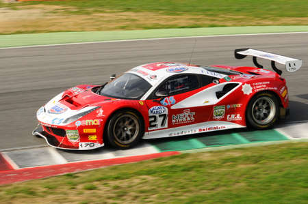 Mugello Circuit, Italy - 6 October, 2017: A Ferrari 488 of Scuderia BAL driven by CHEEVER III Edward - MALUCELLI Matteo, the final round of C.I. Gran Turismo Super GT3-GT3 in Mugello Circuit. Redactioneel