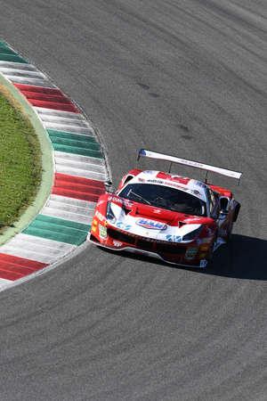 Mugello Circuit, Italy - 7 October, 2017: Ferrari 488 of Scuderia BAL driven by CHEEVER III Edward - MALUCELLI Matteo, Winners of Race #1 of the final round of C.I. Gran Turismo Super GT3-GT3 in Mugello Circuit.