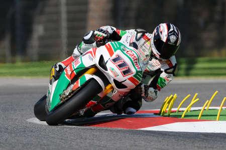 San Marino, Italy - Sep 24, 2011: Ruben Xaus ESP (Honda CBR1000RR) Castrol Honda in action during the Superbike Practice in Imola Circuit, Italy