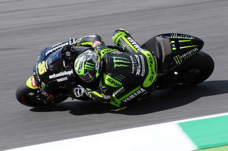 MUGELLO - ITALY, JULY 13, 2012: British Yamaha rider Cal Crutchlow during Qualify Session Grand Prix TIM of Italy MotoGP at Mugello circuit in Italy. Editorial