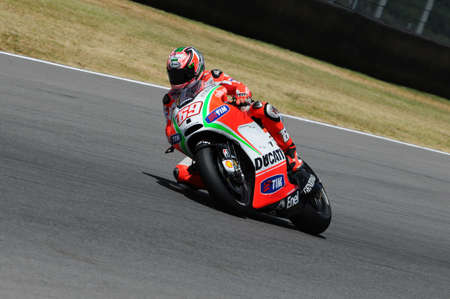 MUGELLO - ITALY, JULY 13: US Ducati rider Nicky Hayden at 2012 TIM MotoGP of Italy at Mugello circuit on July 13, 2012