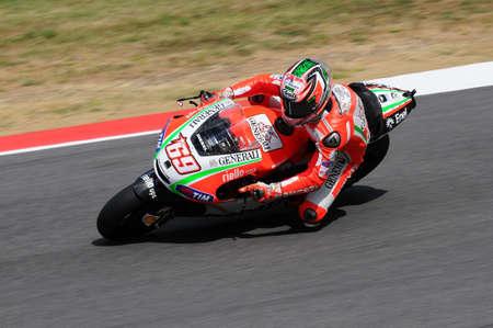 MUGELLO - ITALY, JULY 13: US Ducati rider Nicky Hayden at 2012 TIM MotoGP of Italy at Mugello circuit on July 13, 2012