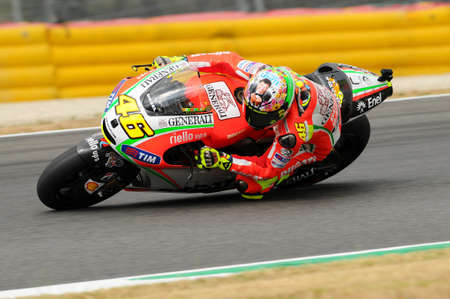 MUGELLO - ITALY, JULY 13 2012: Italian Ducati rider Valentino Rossi during 2012 TIM MotoGP GP of Italy. 新闻类图片