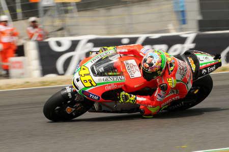 MUGELLO - ITALY, JULY 13 2012: Italian Ducati rider Valentino Rossi during 2012 TIM MotoGP GP of Italy. Editorial