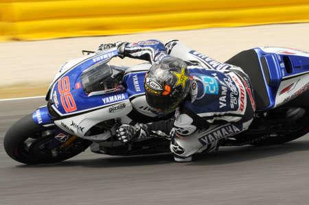 MUGELLO Circuit - JULY 13: Jorge Lorenzo of Yamaha Team during Qualifying Session of MotoGP Grand Prix of Italy, on July 13, 2012 in Mugello Circuit, Italy.