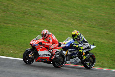 MUGELLO - ITALY, MAY 31: Italian Yamaha rider Valentino Rossi at 2013 TIM MotoGP of Italy on May 31, 2013