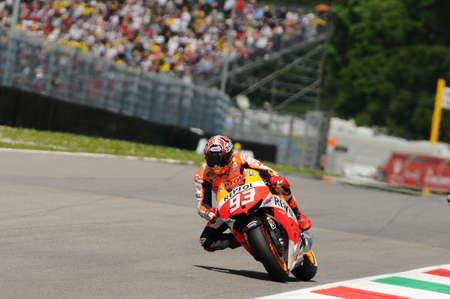 MUGELLO - ITALY, MAY 31: Spanish Honda Repsol rider Marc Marquez at 2013 TIM MotoGP of Italy on May 31, 2013