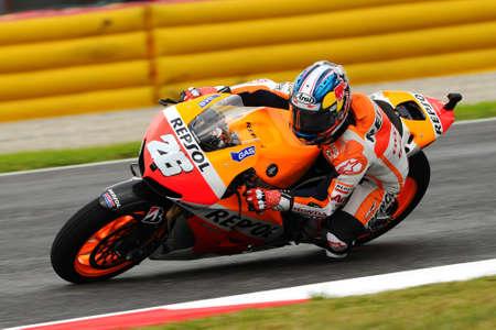 MUGELLO - ITALY, MAY 31: Spanish Honda Repsol rider Dani Pedrosa at 2013 TIM MotoGP of Italy on May 31, 2013