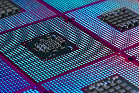 Aligned Computer CPU Processors