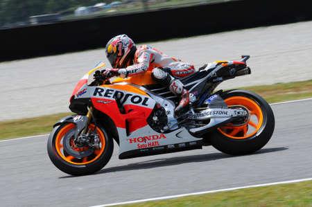 MUGELLO - ITALY, MAY 31: Spanish Honda Repsol rider Dani Pedrosa at 2014 TIM MotoGP of Italy on May 31, 2014