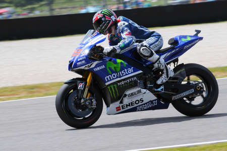 MUGELLO - ITALY, MAY 31: Spanish Yamaha rider Jorge Lorenzo at 2014 TIM MotoGP of Italy on May 31, 2014