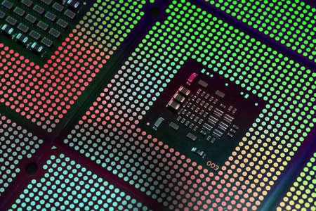 CPU Computer Processor aligned