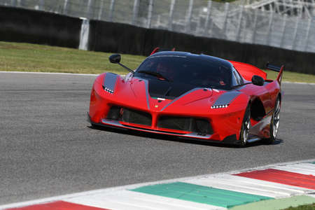 MUGELLO, ITALY - OCTOBER 26, 2017: Ferrari FXX-K during Finali Mondiali Ferrrari 2017 - XX Programmes in Mugello Circuit