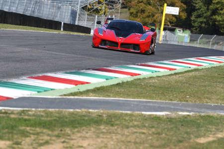 MUGELLO, ITALY - OCTOBER 26, 2017: Ferrari FXX-K during Finali Mondiali Ferrrari 2017 - XX Programmes in Mugello Circuit
