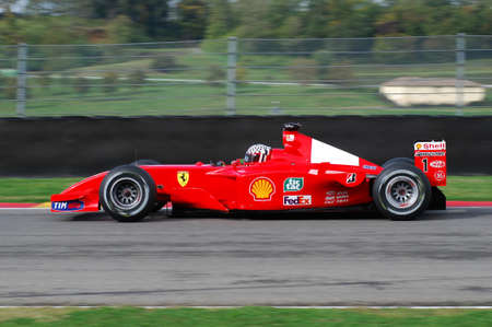 MUGELLO, IT, November, 2007: unknown run with Modern Ferrari F1 during Finali Mondiali Ferrari 2007 into the mugello circuit in italy
