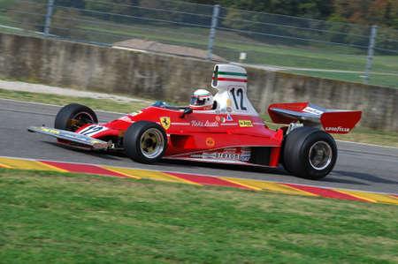 MUGELLO, IT, November, 2007: Unknown run with Historic Ferrari F1 312T ex Niki Lauda during Finali Mondiali Ferrari 2007 into the mugello circuit in italy