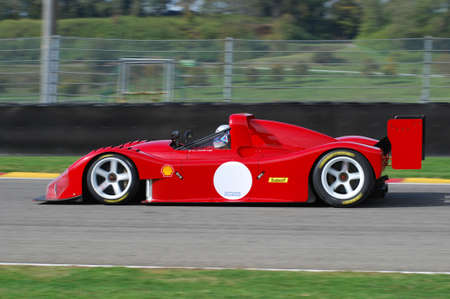 MUGELLO, IT, November, 2007: Unknown run with Historic Prototype Ferrari 333SP during Finali Mondiali Ferrari 2007 into the mugello circuit in italy Editorial