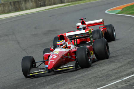 MUGELLO, IT, November, 2007: unknown run with Historic Ferrari F1 F93a ex Jean Alesi during Finali Mondiali Ferrari 2007 into the mugello circuit in italy
