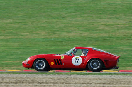 MUGELLO, IT, November, 2007: Unknown run with old 1962  Ferrari 250 GTO at Mugello Circuit in italy during Finali Mondiali Ferrari 2007. Italy Editorial