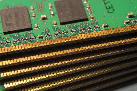 close up of PC Ram Memory Modules