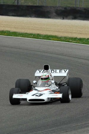 Mugello Circuit 1 April 2007: Classic F1 Car 1972 McLaren M19C ex Denny Hulme at Mugello Circuit in Italy during Mugello Historic Festival. Editorial