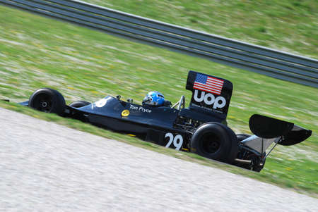Mugello Circuit 1 April 2007: Unknown run on Classic F1 Car 1974 Shadow DN3 ex Tom Pryce on Mugello Circuit in Italy during Mugello Historic Festival. Editorial