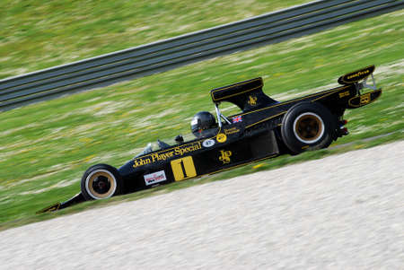 Mugello Circuit 1 April 2007: Unknown run with Historic Lotus 72D 1972 on Mugello Circuit in Italy during Mugello Historic Festival. Editorial