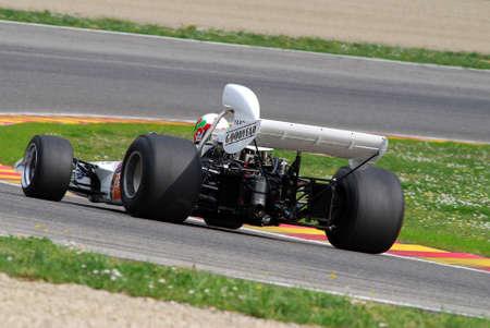 Mugello Circuit 1 April 2007: Classic F1 Car 1972 McLaren M19C ex Denny Hulme at Mugello Circuit in Italy during Mugello Historic Festival. Editorial