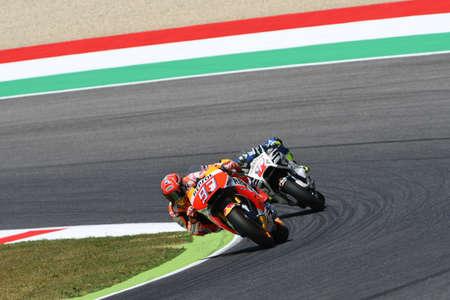 Mugello - ITALY, June 2: Spanish Honda rider Marc Marquez at 2017 Oakley GP of Italy MotoGP at Mugello Circuit on JUNE 2, 2017 Editorial