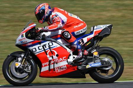 Mugello - ITALY, JUNE 3: Italian Ducati Pramac rider Danilo Petrucci at 2017 OAKLEY GP of Italy of Mugello MotoGP at Mugello circuit on JUNE 3, 2017