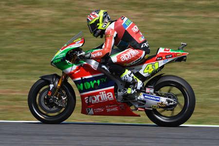 Mugello - ITALY, JUNE 3: Spanish Aprilia rider Aleix Espargaró at 2017 OAKLEY GP of Italy of MotoGP Mugello on JUNE 3, 2017. Italy