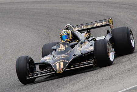 Mugello Circuit 1 April 2007: Unknown run on Classic F1 Car 1982 Lotus 91 John Player Team Lotus on Mugello Circuit in Italy during Mugello Historic Festival.