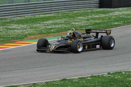Mugello Circuit 1 April 2007: Unknown run on Classic F1 Car 1982 Lotus 91 John Player Team Lotus on Mugello Circuit in Italy during Mugello Historic Festival.