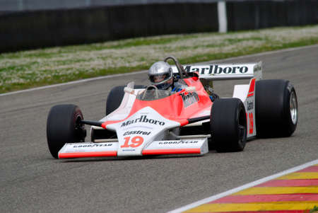Mugello Circuit 1 April 2007: Unknown run on Classic F1 Car 1979 McLaren M29 ex John Watson on Mugello Circuit in Italy during Mugello Historic Festival. Editorial