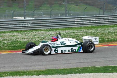 Mugello Circuit 1 April 2007: Unknown run on Classic F1 Car 1982 Williams FW 08 on Mugello Circuit in Italy during Mugello Historic Festival. Editorial