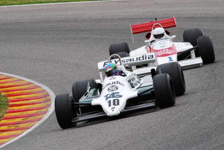 Mugello Circuit 1 April 2007: Unknown run on Classic F1 Car 1982 Williams FW 07 ex Alan Jones on Mugello Circuit in Italy during Mugello Historic Festival.