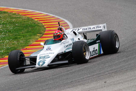 Mugello Circuit 1 April 2007: Unknown run on Classic F1 Car 1982 Williams FW 08 on Mugello Circuit in Italy during Mugello Historic Festival. Editöryel