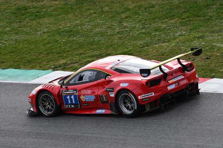 12h Hankook Mugello 18 March 2017: #11 Scuderia Praha, Ferrari 488 GT3: Jiri Pisarik, Josef Krl, Matteo Malucelli on Mugello Circuit, Italy.