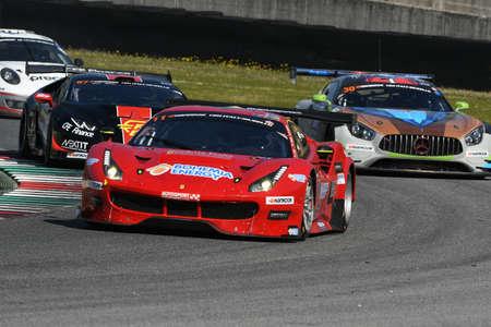 12h Hankook Mugello 18 March 2017: #11 Scuderia Praha, Ferrari 488 GT3: Jiri Pisarik, Josef Krl, Matteo Malucelli on Mugello Circuit, Italy. Sajtókép