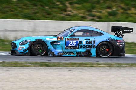 12h Hankook Mugello 18 March 2017: #25 HTP Motorsport, Mercedes AMG GT3: Wim de Pundert, Bernd Schneider, Brice Bosi on Mugello Circuit, Italy.